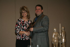 """Pam Mendenhall was awarded the """"Petroleum Professional Woman of the Year"""" award in 2011 at IOGA"""